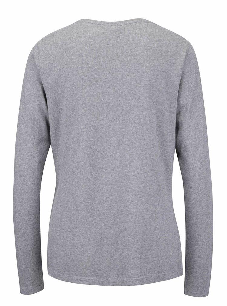 Sivé dámske tričko s nápisom GANT