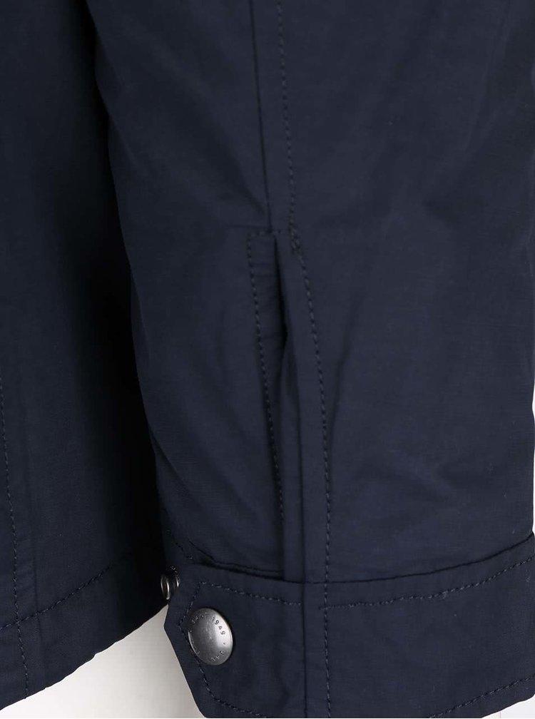 Tmavě modrá pánská bunda na zip GANT