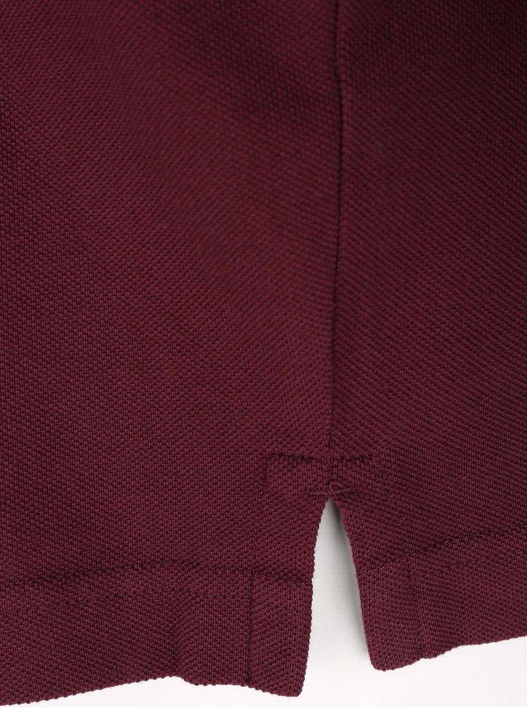Vínové pánské polo triko GANT