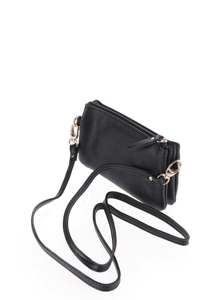 Čierna malá crossbody kabelka Pieces Pichelle