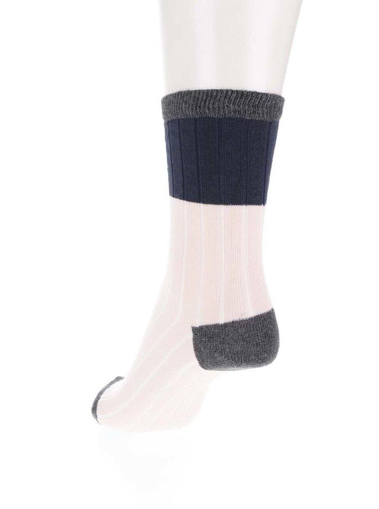 Sada dvou párů černých a růžových ponožek Pieces Paca