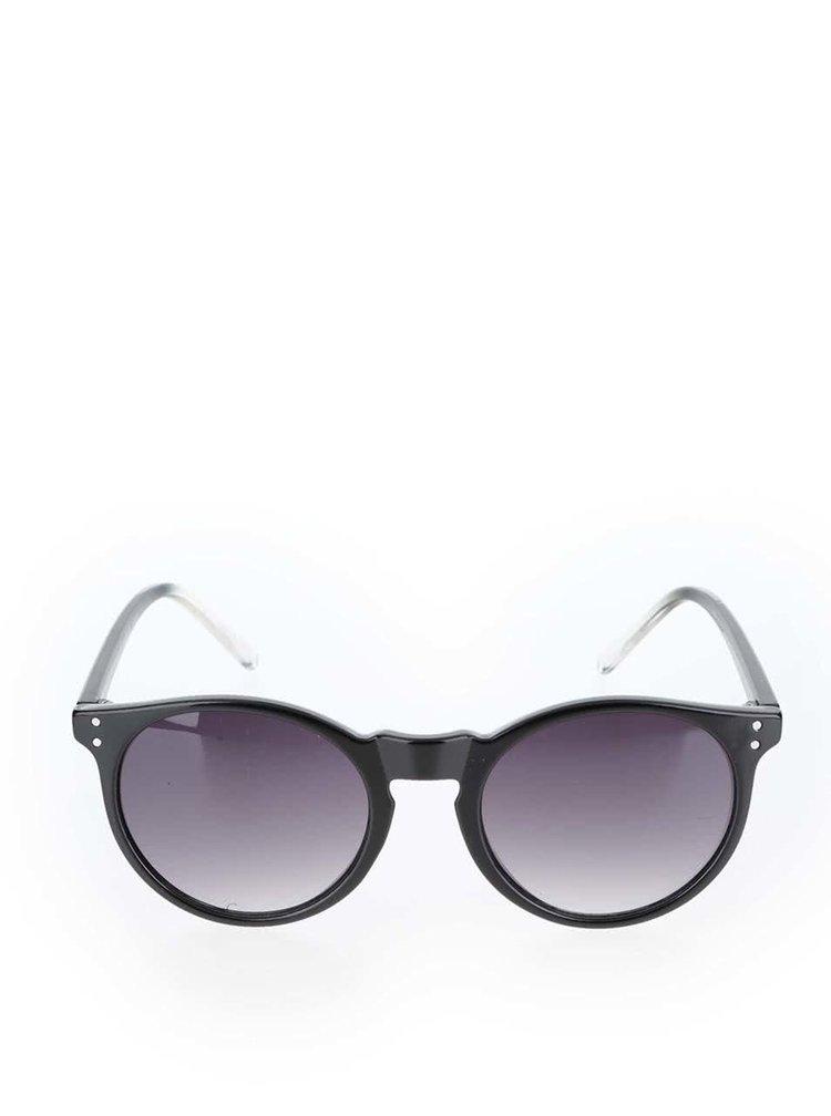 Černé sluneční brýle Pieces Pannu