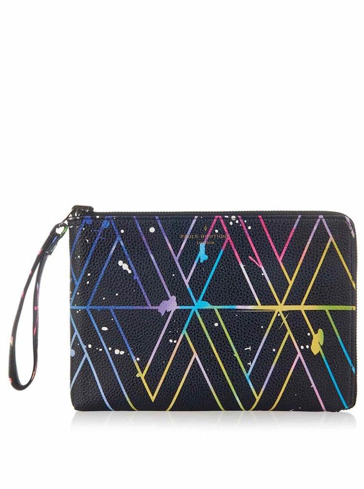 Čierna obojstranná listová kabelka s farebným vzorom Paul's Boutique Mini Fleur