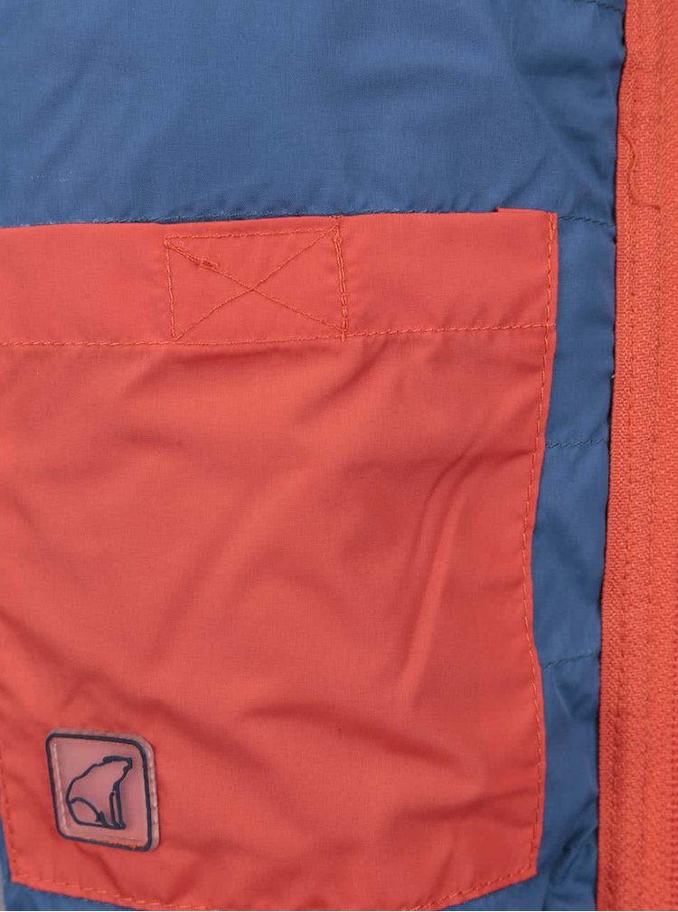 Oranžová klučičí prošívaná bunda s kapucí North Pole Kids