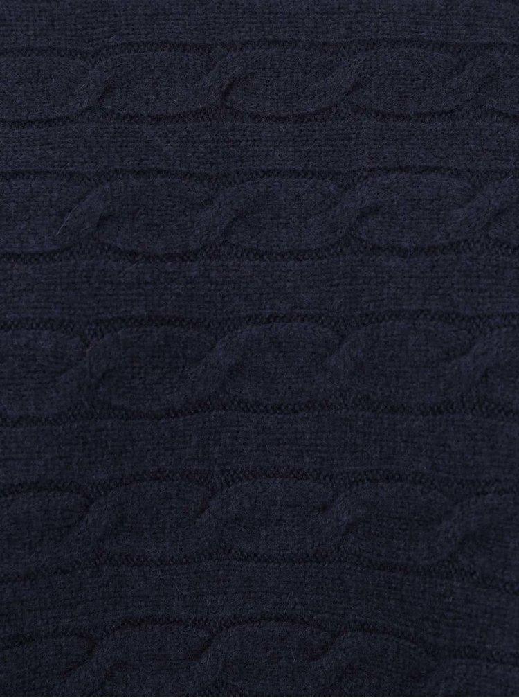 Tmavě modré dámské vlněné pončo GANT
