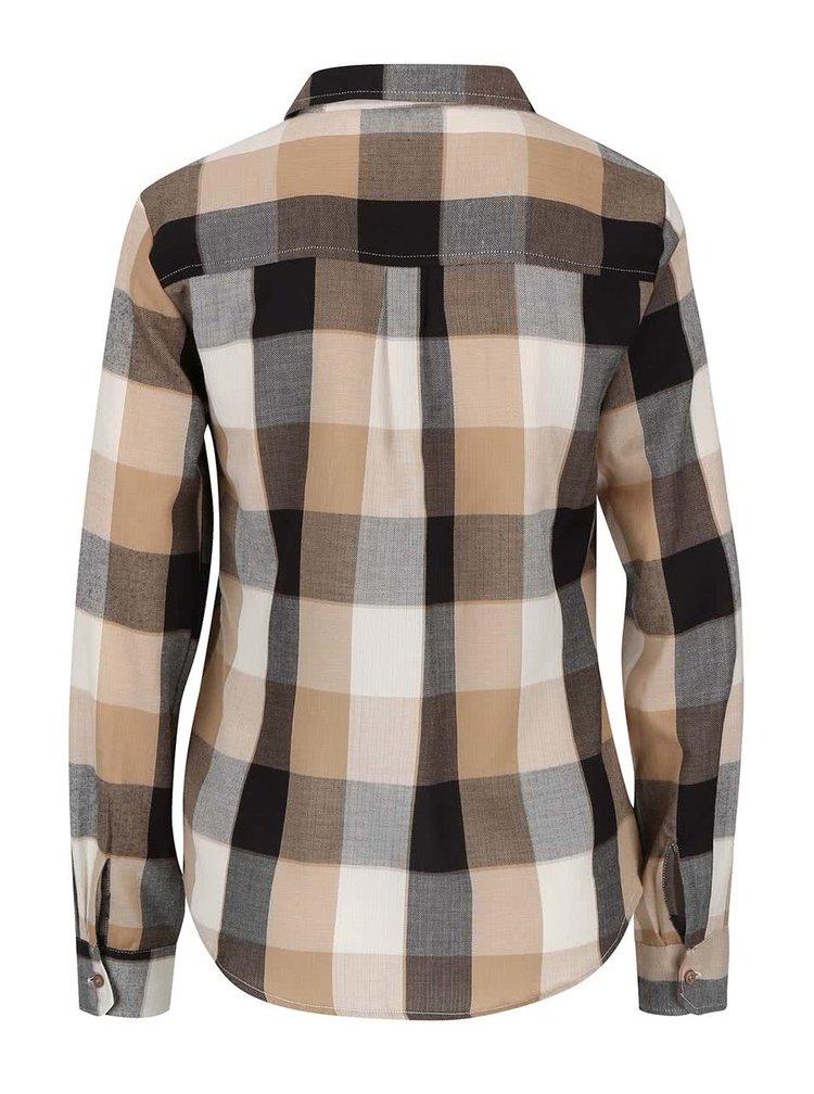 Čierno-hnedá kockovaná košeľa Dorothy Perkins