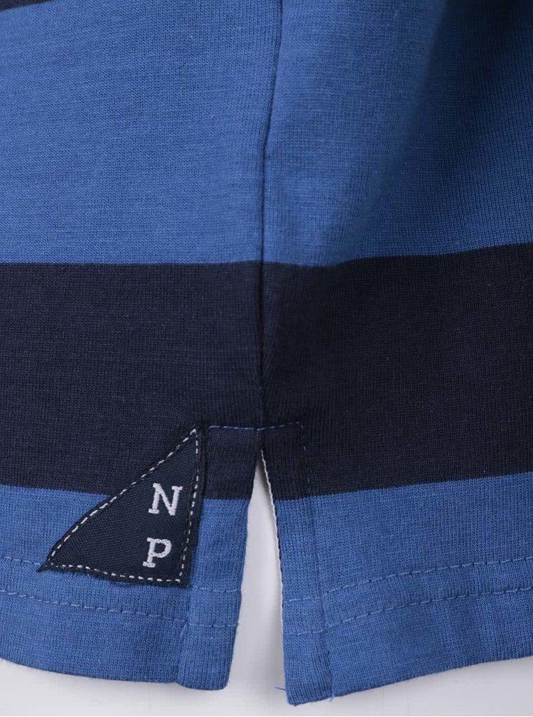 Modrá chlapčenská vzorovaná polokošeľa s dlhým rukávom North Pole Kids