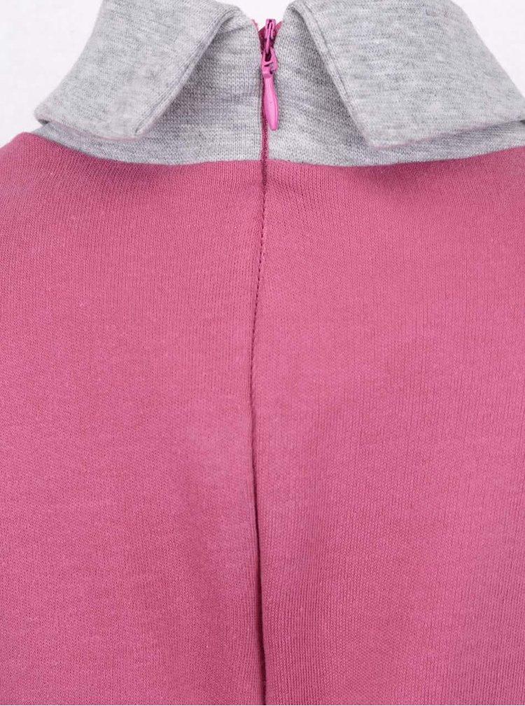 Růžové holčičí šaty s dlouhým rukávem North Pole Kids