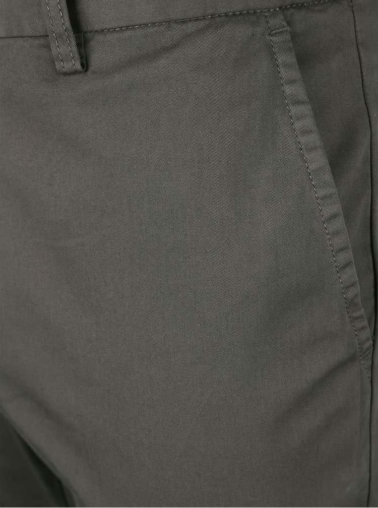 Zelenosivé pánske slim chinos nohavice GANT