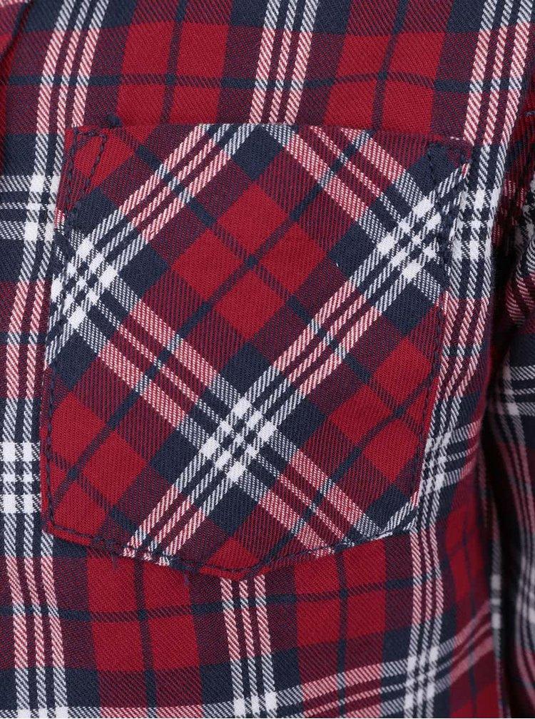 Červená chlapčenská károvaná košeľa North Pole Kids