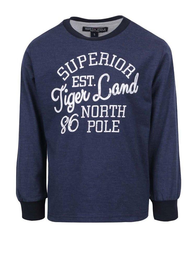 Tmavomodré chlapčenské tričko s dlhým rukávom North Pole Kids