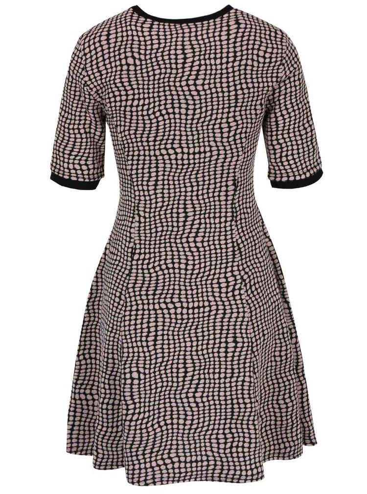 Černo-růžové vzorované minišaty Dorothy Perkins