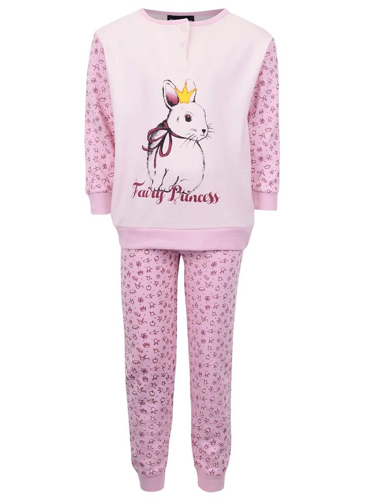 Ružové dievčenské pyžamo so zajačikom Mix´n Match