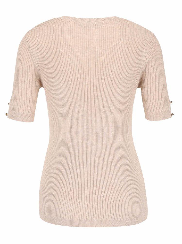 Tricou bej Dorothy Perkins din material tricotat