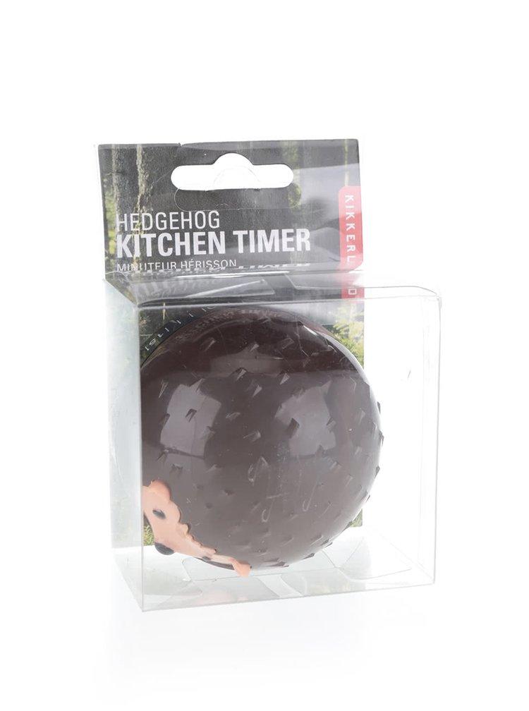 Hnědá minutka do kuchyně ve tvaru ježka Kikkerland Hedgehog