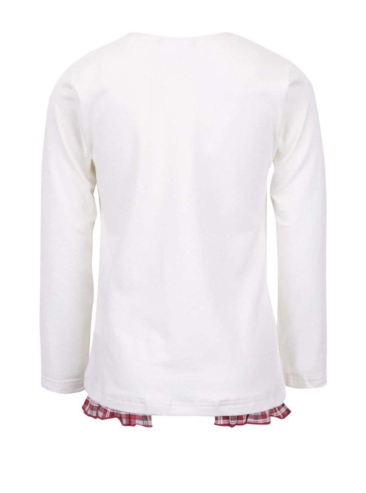 Krémové dievčenské tričko s dlhým rukávom Mix´n Match