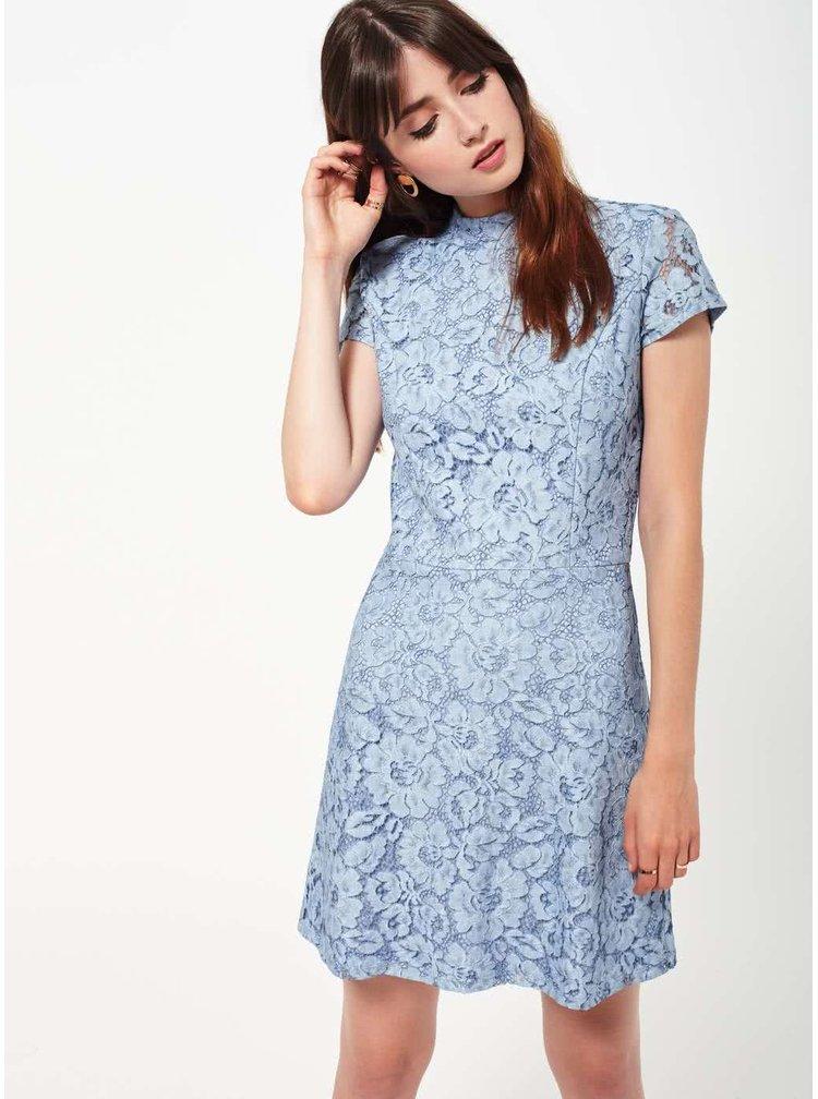 Svetlomodré čipkované šaty Miss Selfridge