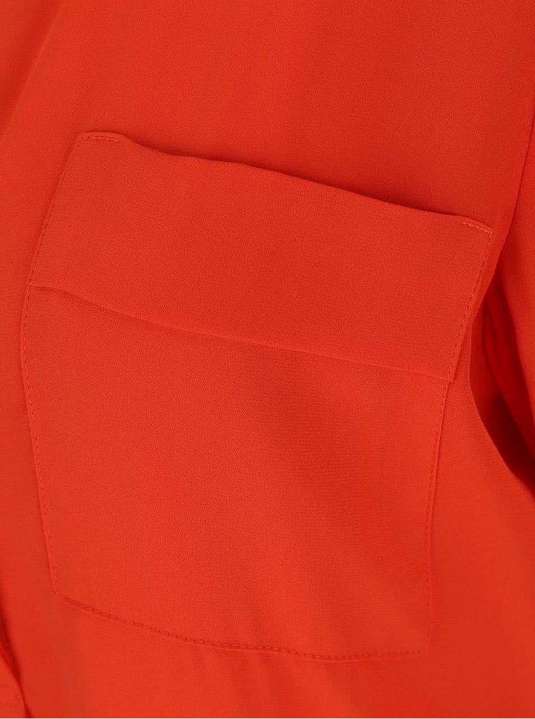 Oranžová blúzka s vreckom Dorothy Perkins