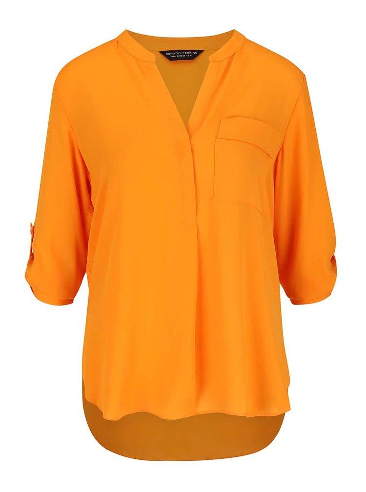 Zářivě oranžová halenka s kapsou Dorothy Perkins
