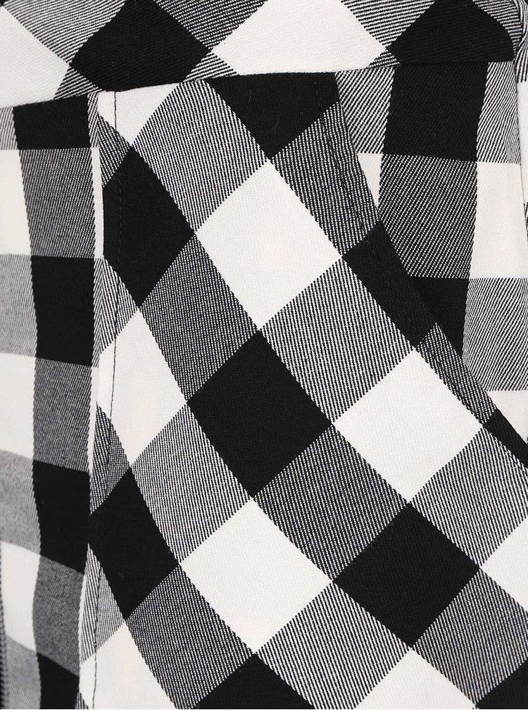 Krémovo-čierna sukňa na zips Dorothy Perkins
