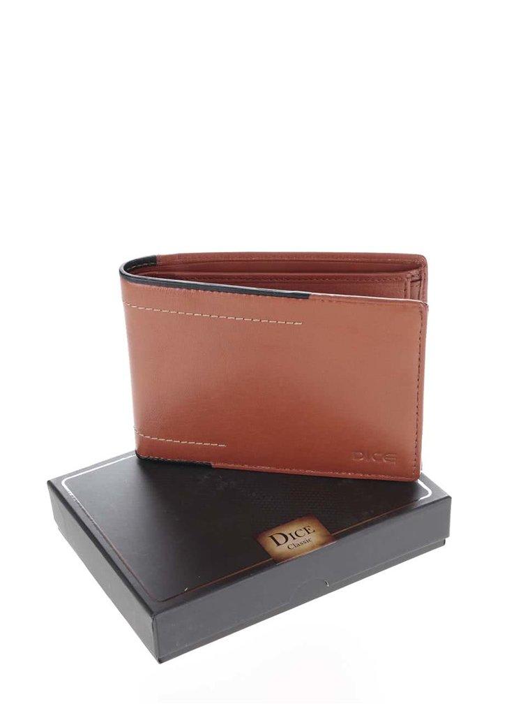 Hnědá kožená peněženka Dice Dunn