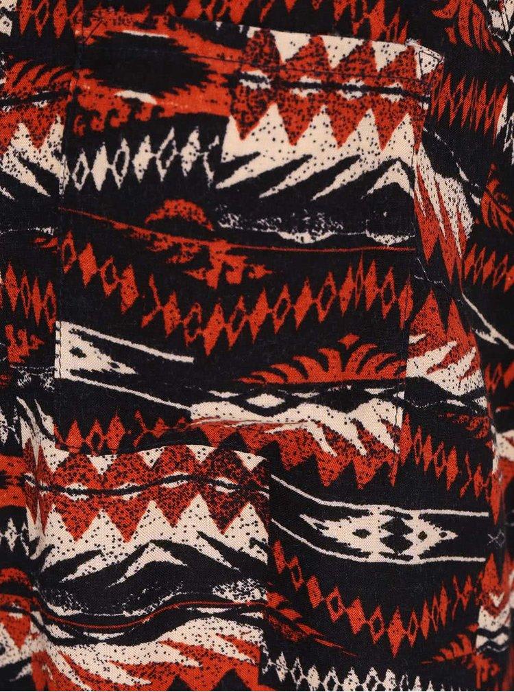Cihlovo-černé vzorované tílko ONLY Polly