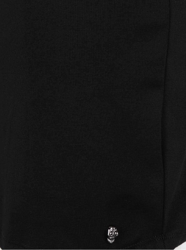 Černé šaty s krátkým rukávem ONLY Sandra