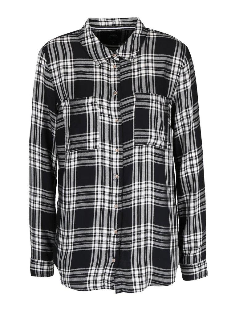 Bílo-černá kostkovaná košile ONLY June