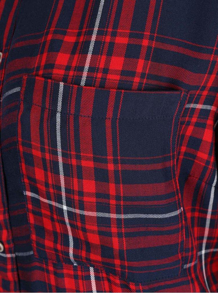 Modro-červená károvaná košeľa ONLY June