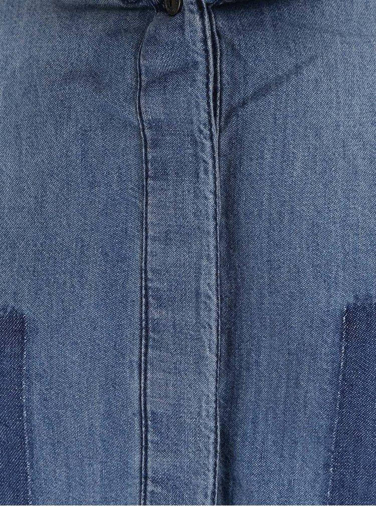Cămașă albastră ONLY Kulla din denim cu mâneci lungi