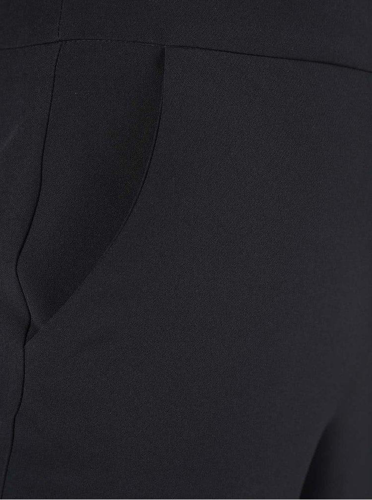 Čierne culottes s trakmi Dorothy Perkins