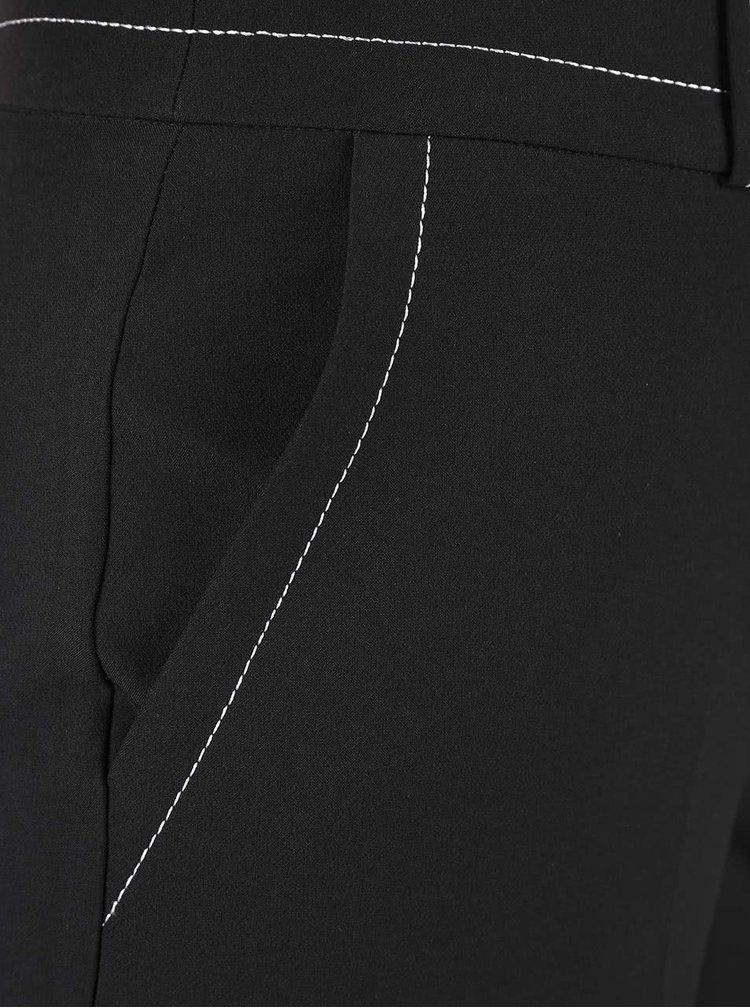 Čierne culottes s vyšším pásom Dorothy Perkins