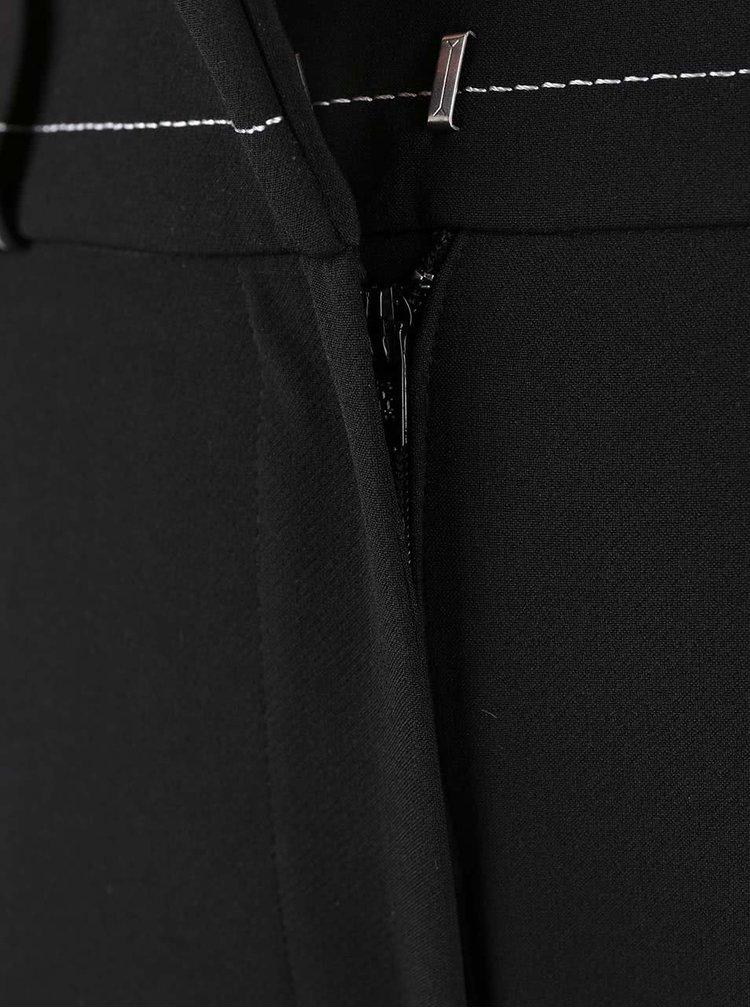 Černé culottes s vyšším pasem Dorothy Perkins