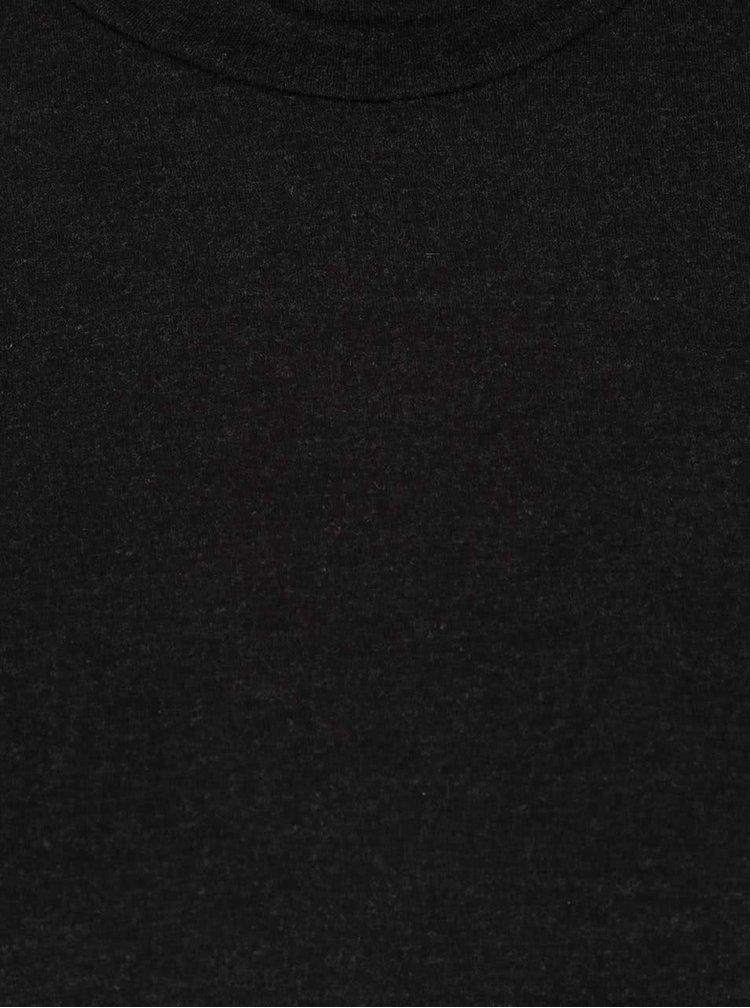 Čierne voľné tričko so stojačikom ONLY Moster