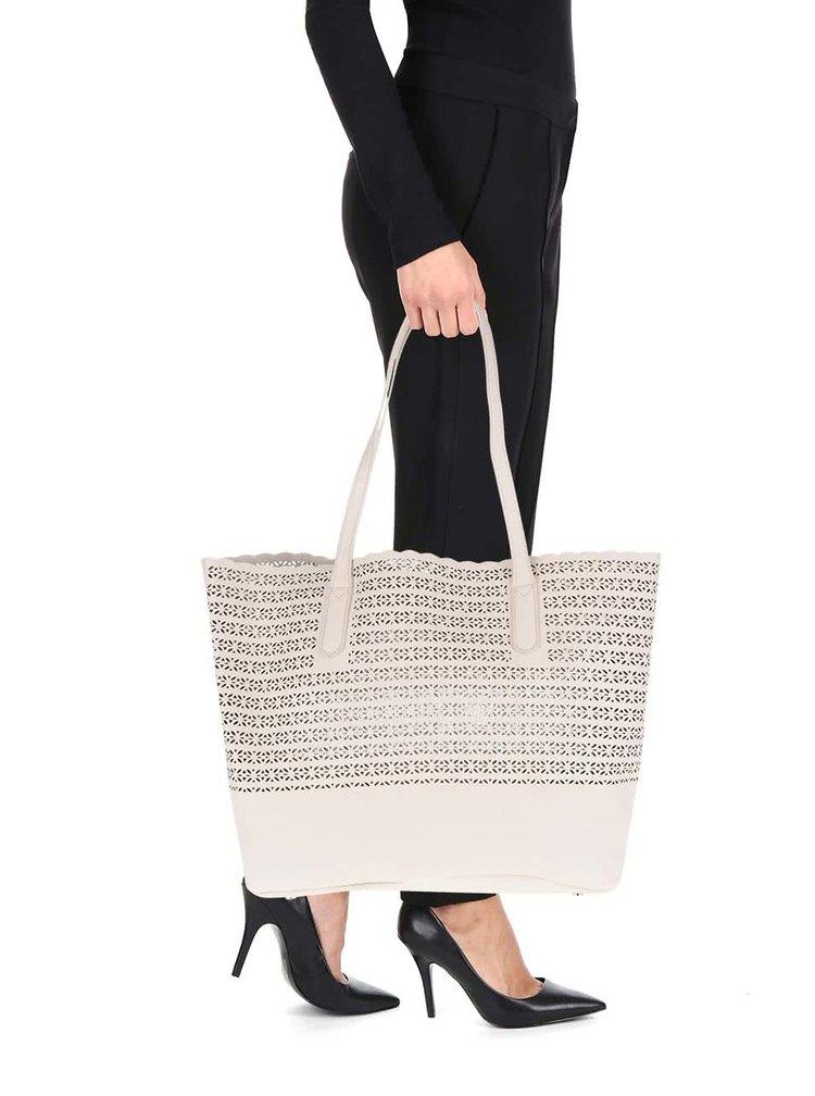 Béžový perforovaný shopper Dorothy Perkins