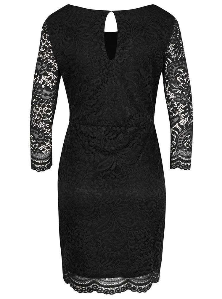 Čierne čipkované šaty ONLY New Sierra