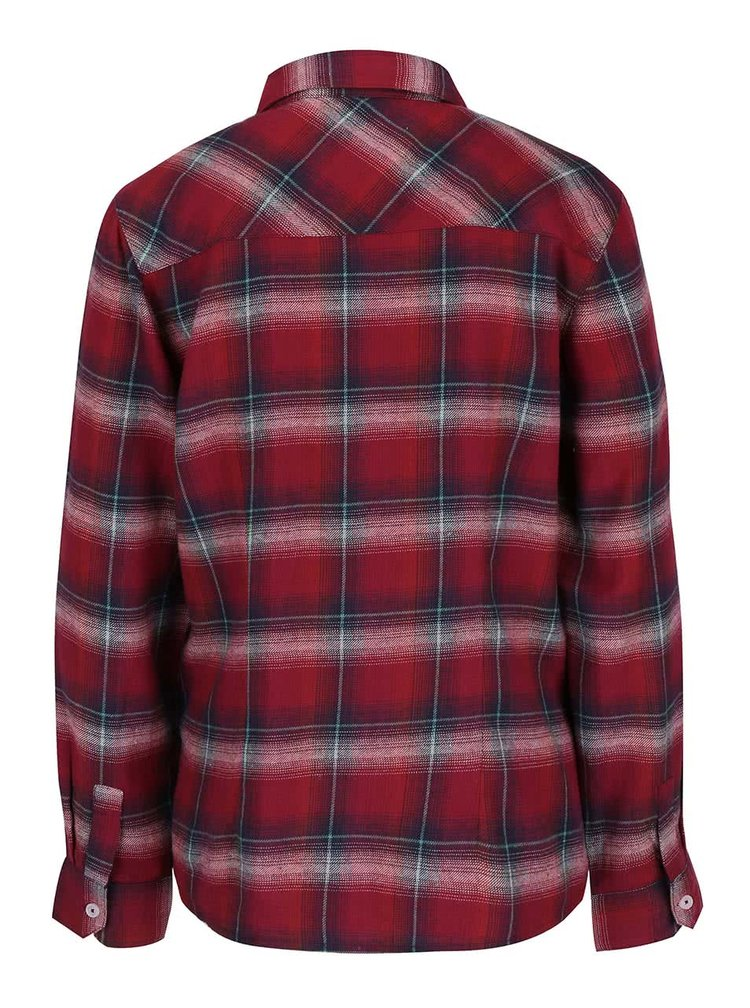 Vínová flanelová košile Brakeburn Check