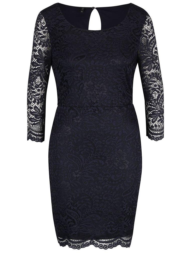 Tmavomodré čipkované šaty ONLY New Sierra