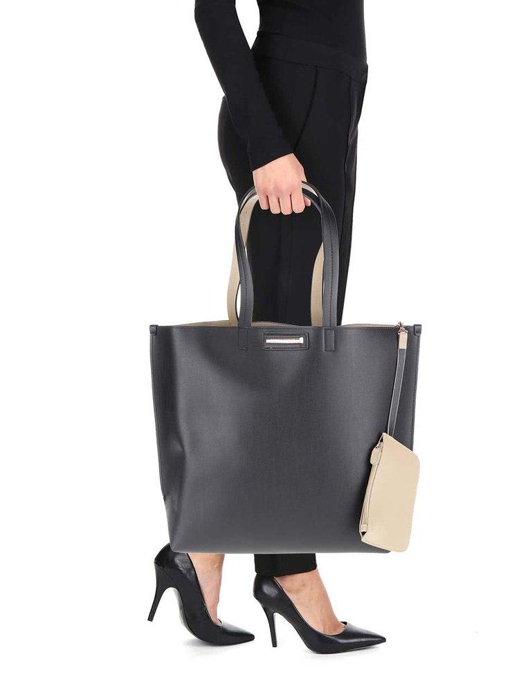 Čierny priestranný shopper Dorothy Perkins