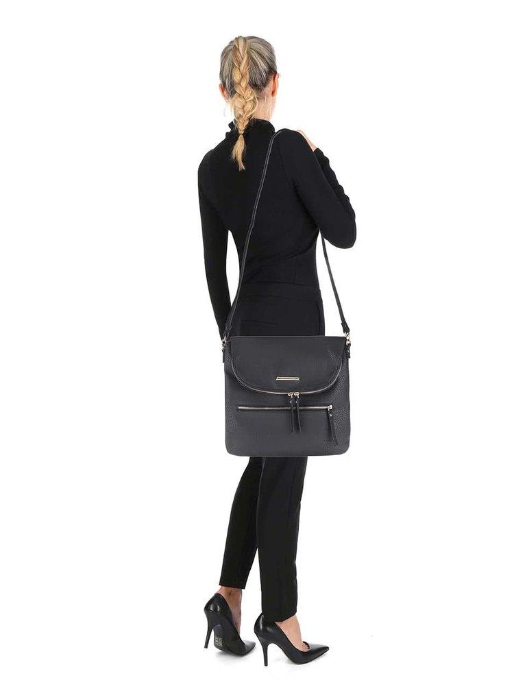 Černá crossbody kabelka s kapsou na klopě Dorothy Perkins
