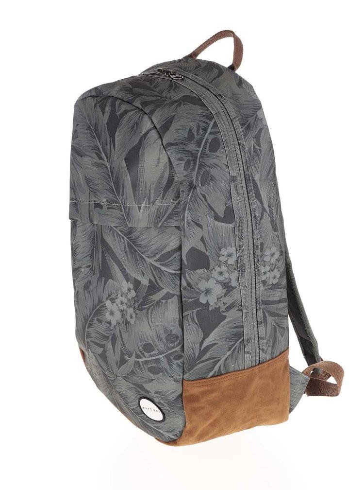 Zelený pánsky batoh s detailmi v semišovej úprave Rip Curl Palm Craft  22 l
