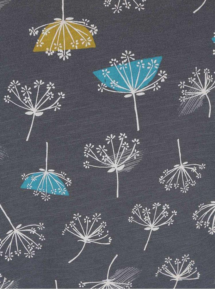 Sivé tričko s potlačou púpav Brakeburn Dandelion Notch