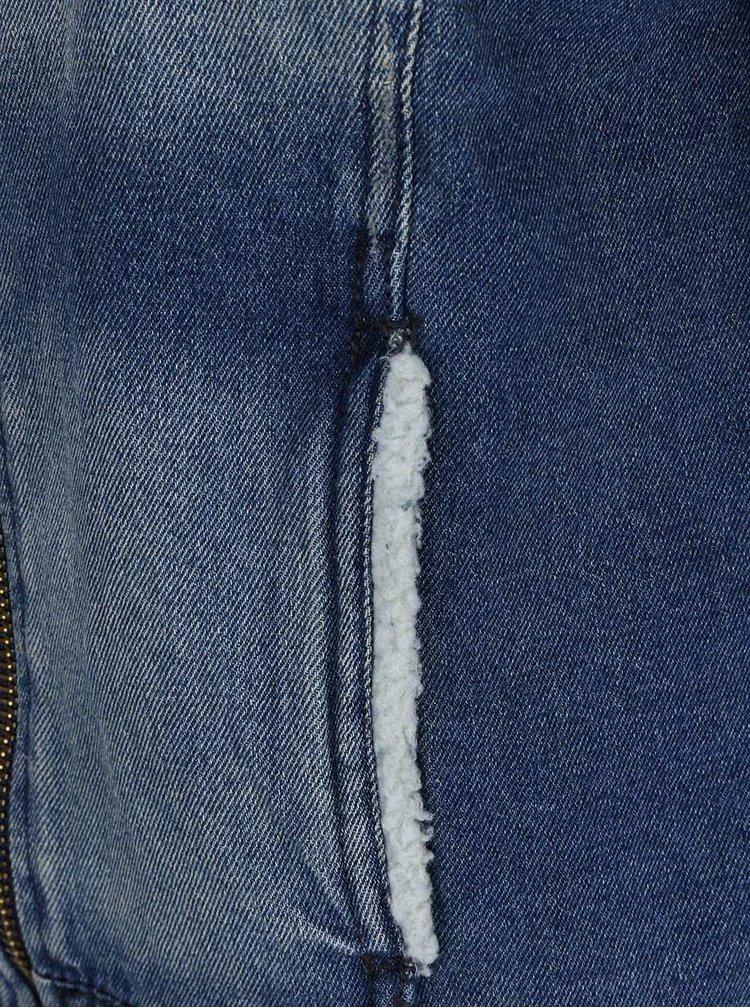 Rifľová bunda s golierom z umelej kožušiny ONLY Keyla