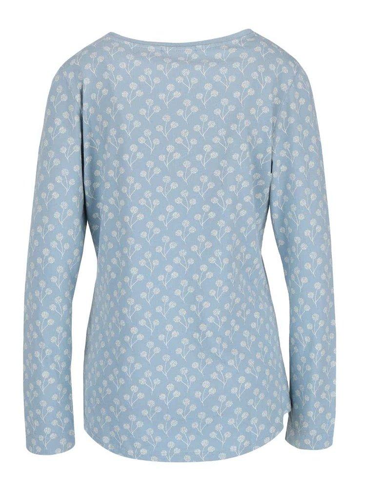 Světle modré tričko s potiskem a dlouhým rukávem Brakeburn Floral