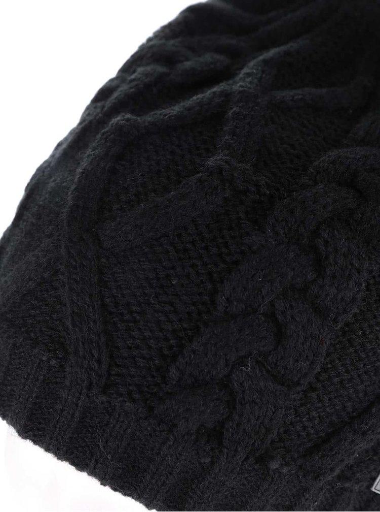 Căciulă neagră Rip Curl The Legend Beanie tricotată pentru bărbați