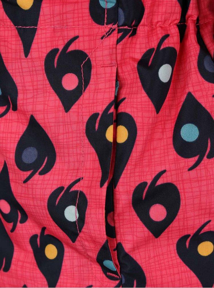Růžová holčičí bunda s potiskem lístků name it Mello