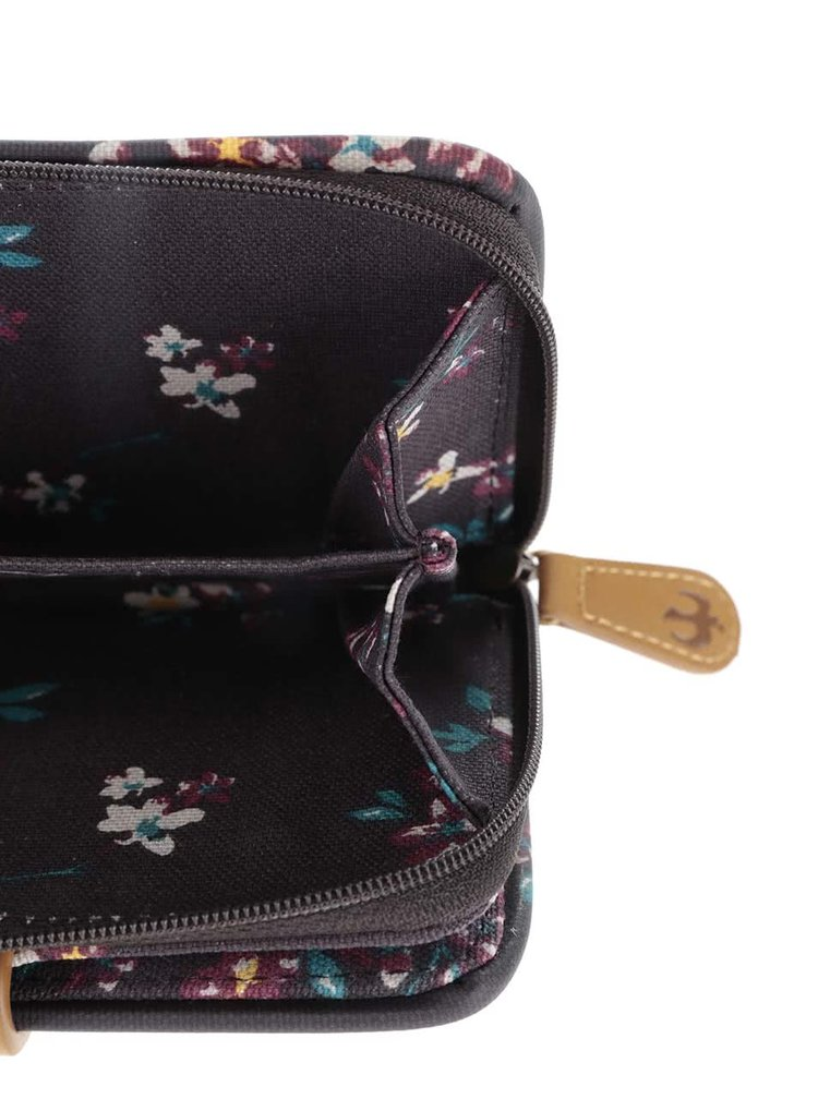 Tmavohnedá kvetinová peňaženka Brakeburn Blossom