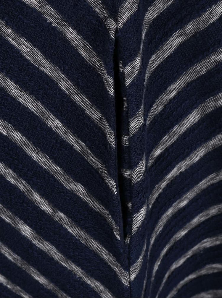 Rochie bleumarin în dungi Brakeburn Jaquard Stripe