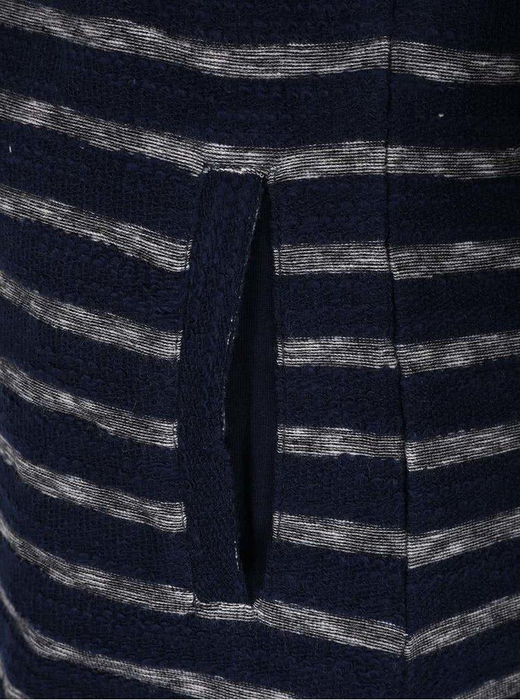 Blazer bleumarin în dungi Brakeburn Jaquard Stripe