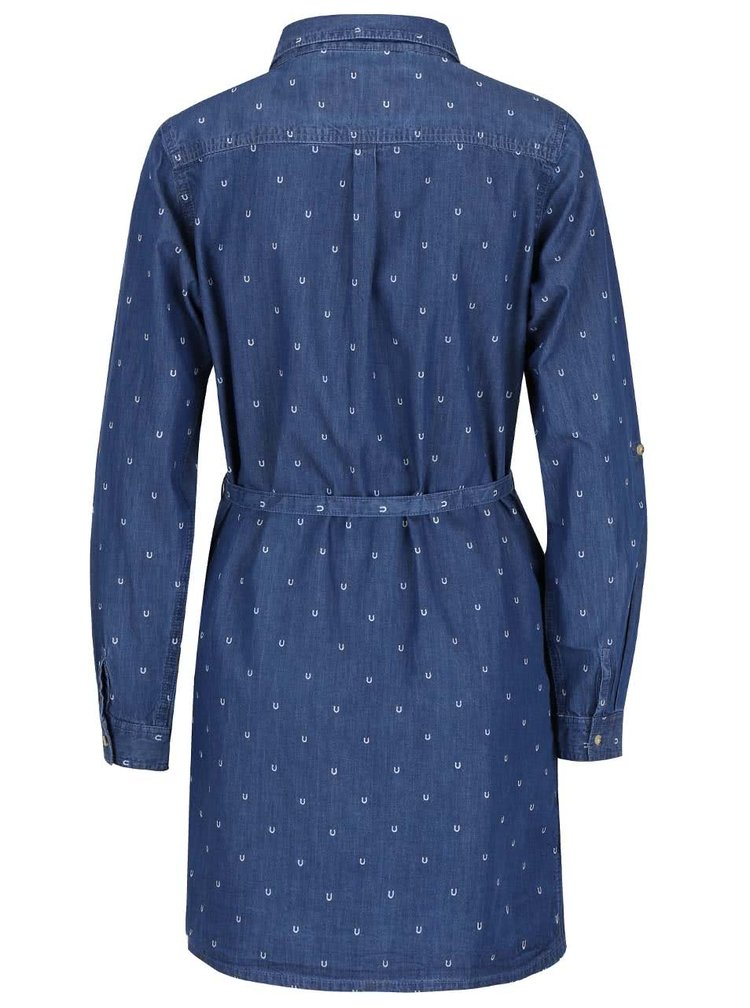 Rochie albastră din denim Brakeburn Horse Shoe